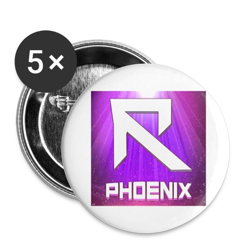 RTrixx Phoenix Logo - Buttons small 1''/25 mm (5-pack)