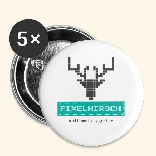 PIXELHIRSCH - Logo - Buttons klein 25 mm (5er Pack)