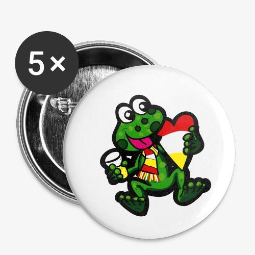 Oeteldonk Kikker - Buttons klein 25 mm (5-pack)