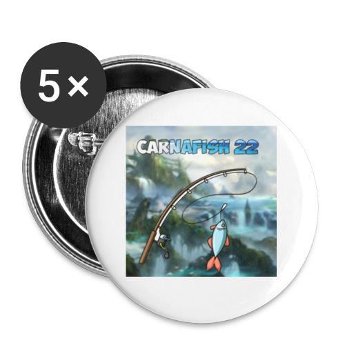 Badge Carnafish 22 - Lot de 5 petits badges (25 mm)