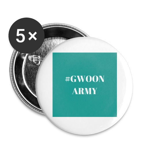 #gwoonarmy - Buttons klein 25 mm (5-pack)