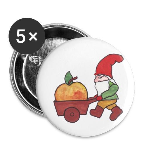 Apfel - Zwerg - Buttons klein 25 mm (5er Pack)