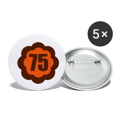 75 Flower IIr - Buttons klein 25 mm (5er Pack)