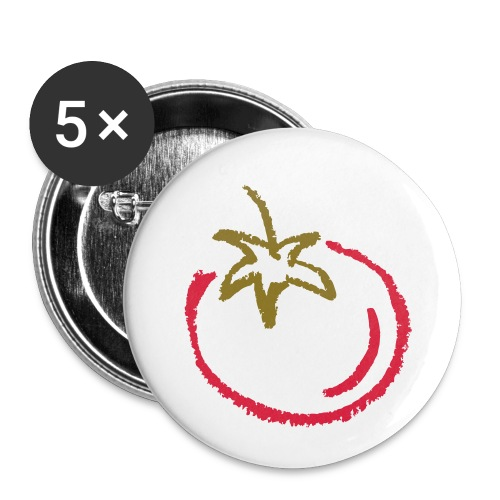 tomato 1000points - Buttons small 1''/25 mm (5-pack)