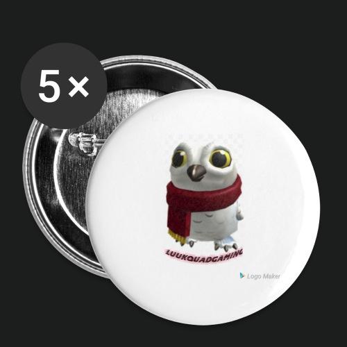 Merch white snow owl - Buttons klein 25 mm (5-pack)