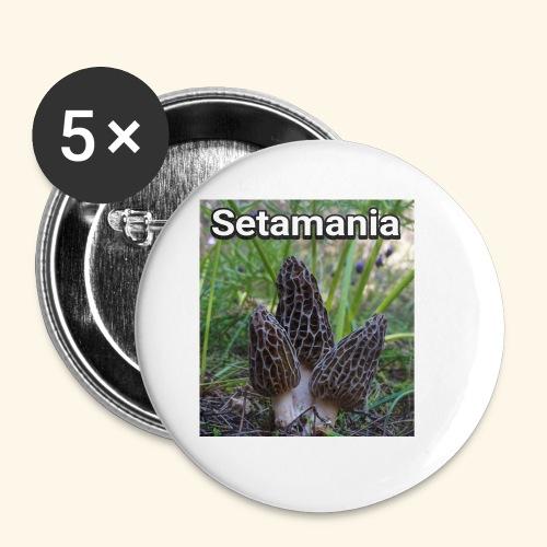 Colmenillas setamania - Chapa pequeña 25 mm