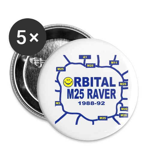 Orbital M25 Acid Hosue Raver - Buttons small 1''/25 mm (5-pack)