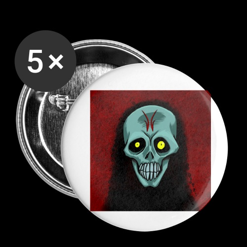 Ghost skull - Buttons small 1''/25 mm (5-pack)