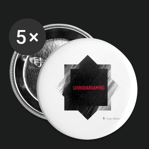 New logo t shirt - Buttons klein 25 mm (5-pack)