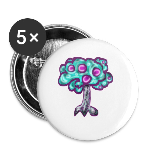 Neon Tree - Buttons small 1''/25 mm (5-pack)