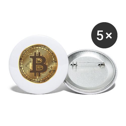 BTC - Lot de 5 petits badges (25 mm)