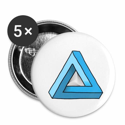 Triangular - Buttons klein 25 mm (5er Pack)