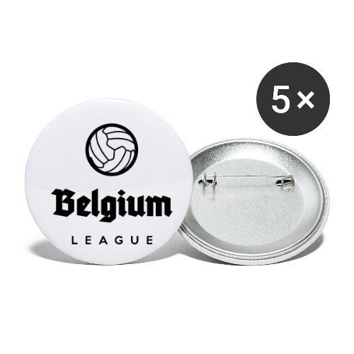 Belgium football league belgië - belgique - Lot de 5 petits badges (25 mm)