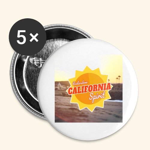 SunRise - Lot de 5 petits badges (25 mm)