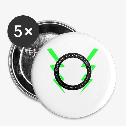 Fanfare la Cacophonie - Lot de 5 petits badges (25 mm)