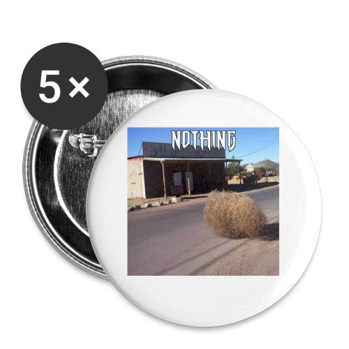 NOTHING - Lot de 5 petits badges (25 mm)