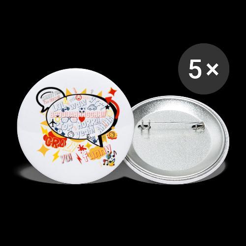 crazystreettalk - Lot de 5 petits badges (25 mm)