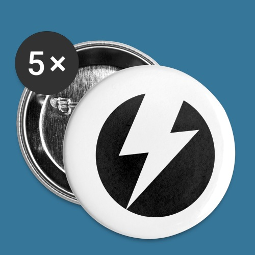 BlueSparks - Inverted - Buttons small 1''/25 mm (5-pack)