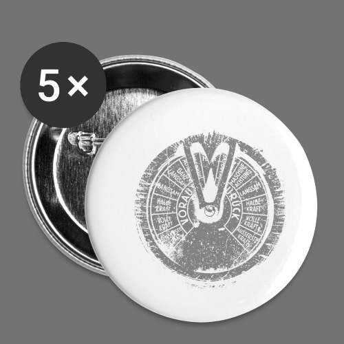Maschinentelegraph (gray oldstyle) - Buttons small 1''/25 mm (5-pack)