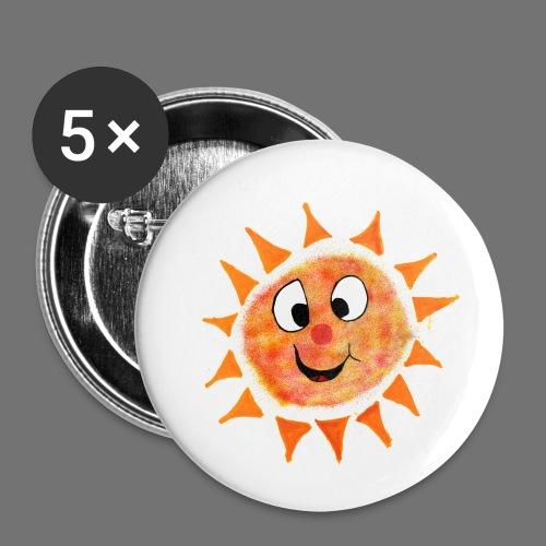 Sun - Lot de 5 petits badges (25 mm)