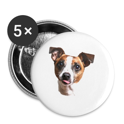 Jack Russell - Buttons small 1''/25 mm (5-pack)