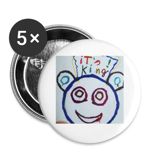 de panda beer - Buttons klein 25 mm (5-pack)