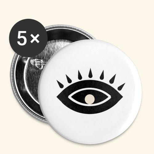 third eye - Små knappar 25 mm (5-pack)