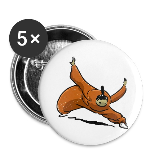 Little kung-fu monk - Buttons small 1''/25 mm (5-pack)