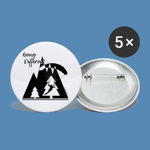 Being Different - Lot de 5 petits badges (25 mm)