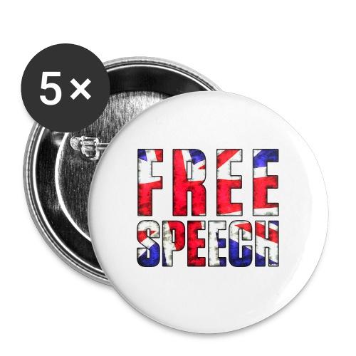 Free Speech UK - Buttons small 25 mm
