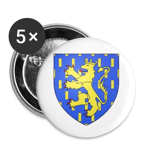 Blason de la Franche-Comté avec fond transparent - Lot de 5 petits badges (25 mm)