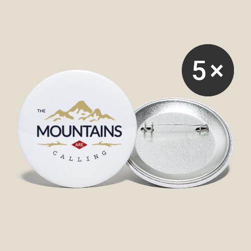 Outdoor mountain - Lot de 5 petits badges (25 mm)