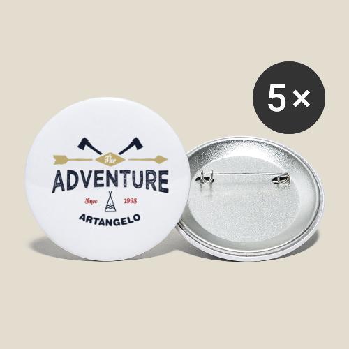 Outdoor adventure - Lot de 5 petits badges (25 mm)