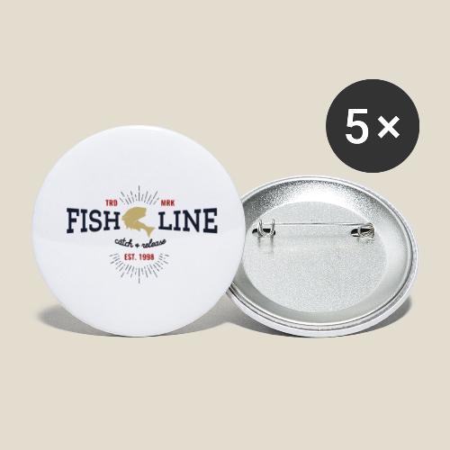 Outdoor fish - Lot de 5 petits badges (25 mm)
