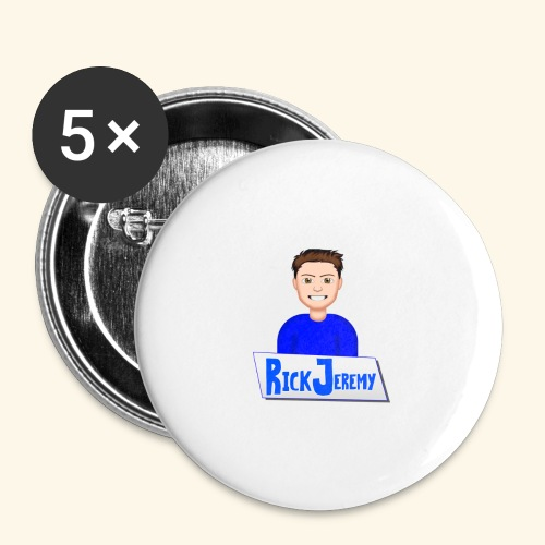 RickJeremymerchandise - Buttons klein 25 mm (5-pack)