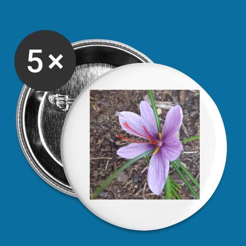 Safran - Lot de 5 petits badges (25 mm)