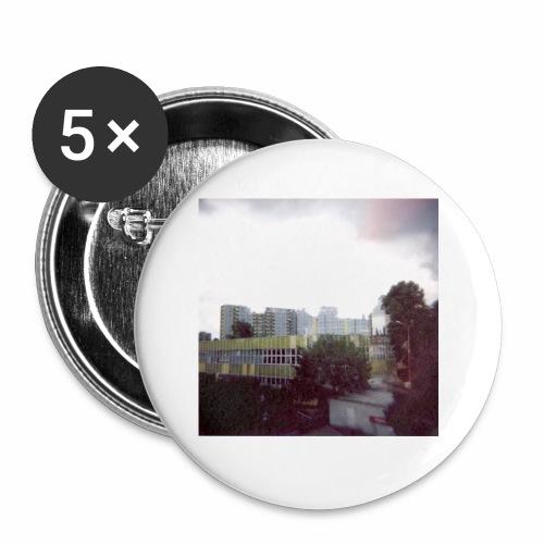Original Artist design * Blocks - Buttons small 1''/25 mm (5-pack)