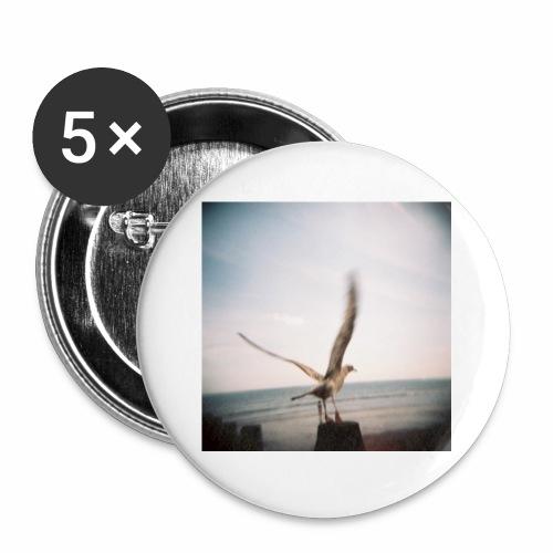 Original Artist design * Seagull - Buttons small 1''/25 mm (5-pack)