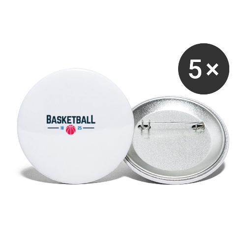 Basketball - Confezione da 5 spille piccole (25 mm)