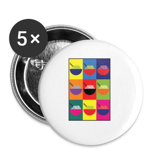 Pop Pho Art - Lot de 5 petits badges (25 mm)