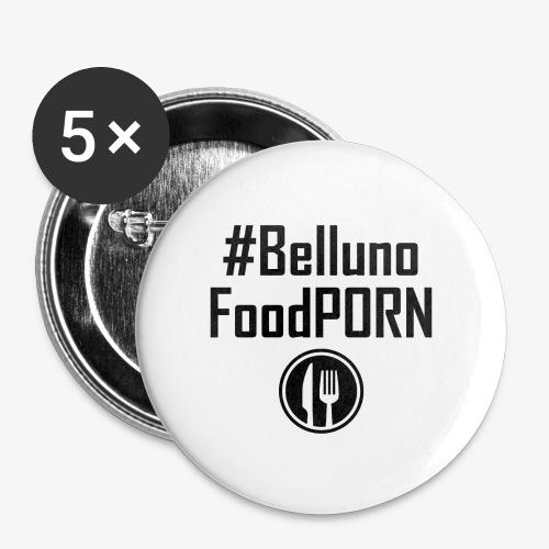 Belluno FOOD Porn - Confezione da 5 spille piccole (25 mm)