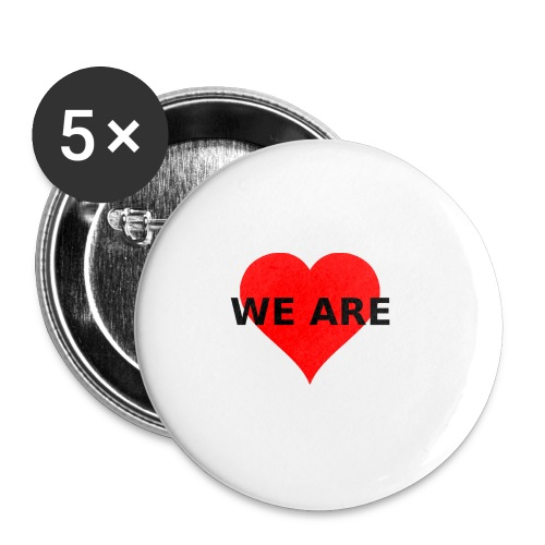WE ARE Herz Heart LOVE - Buttons klein 25 mm (5er Pack)