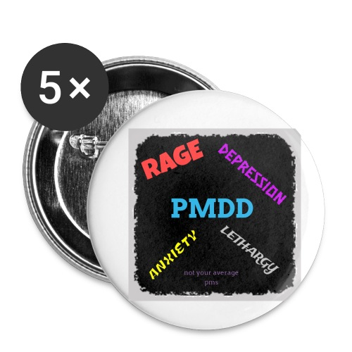Pmdd symptoms - Buttons small 1''/25 mm (5-pack)
