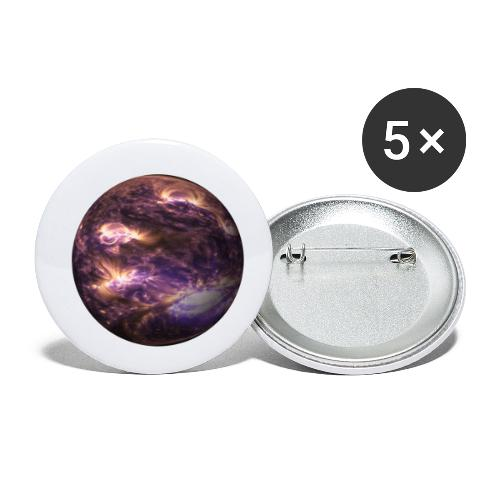 planet - Buttons klein 25 mm (5er Pack)