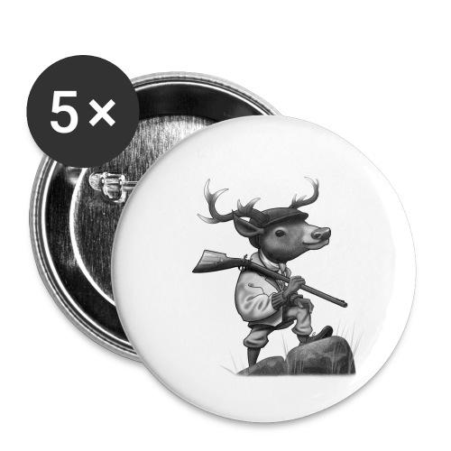 Deer Hunter - Buttons klein 25 mm (5er Pack)