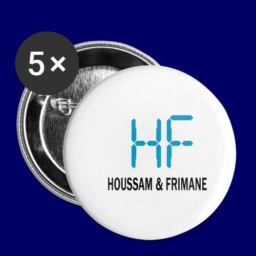 h&f - Confezione da 5 spille piccole (25 mm)