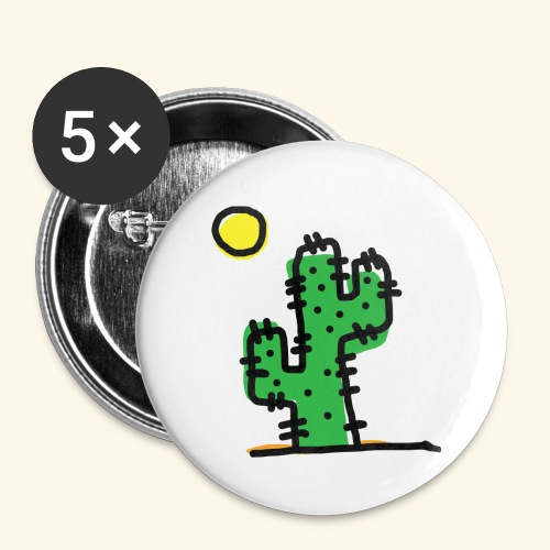 Cactus single - Confezione da 5 spille piccole (25 mm)