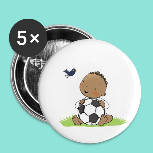 Cute Boy with ball - Buttons klein 25 mm (5-pack)