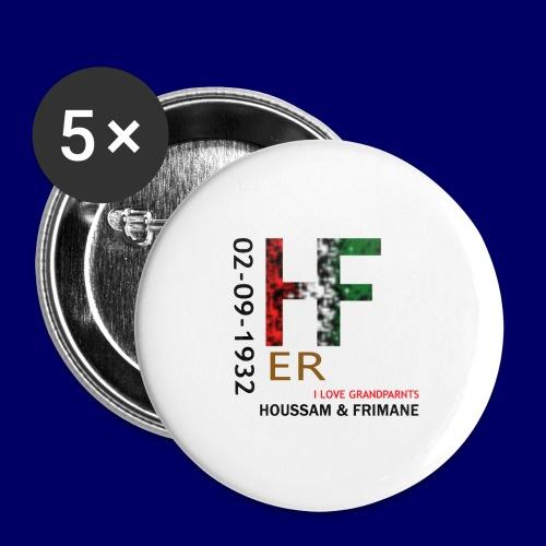 H&F ER - Confezione da 5 spille piccole (25 mm)