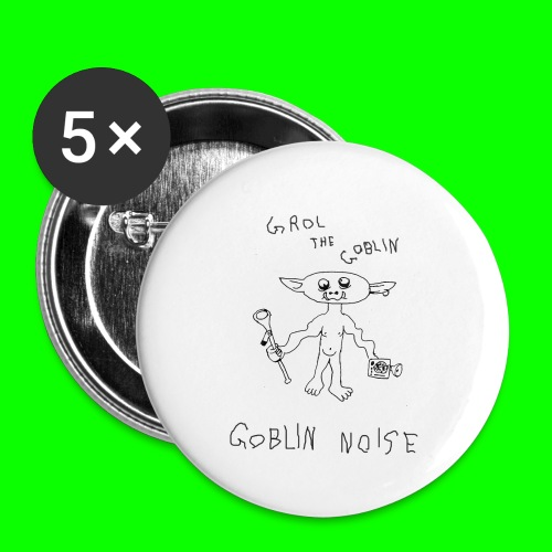 Goblin Noise - Buttons small 1''/25 mm (5-pack)